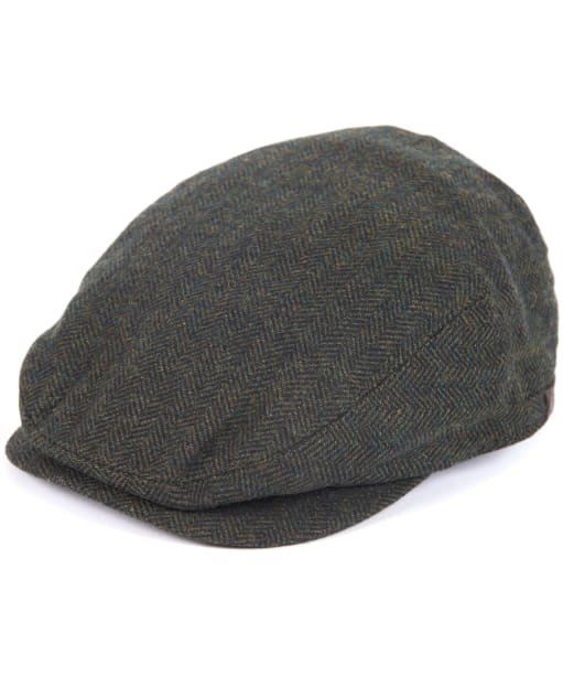 Men's Barbour Barlow Flat Cap - Olive
