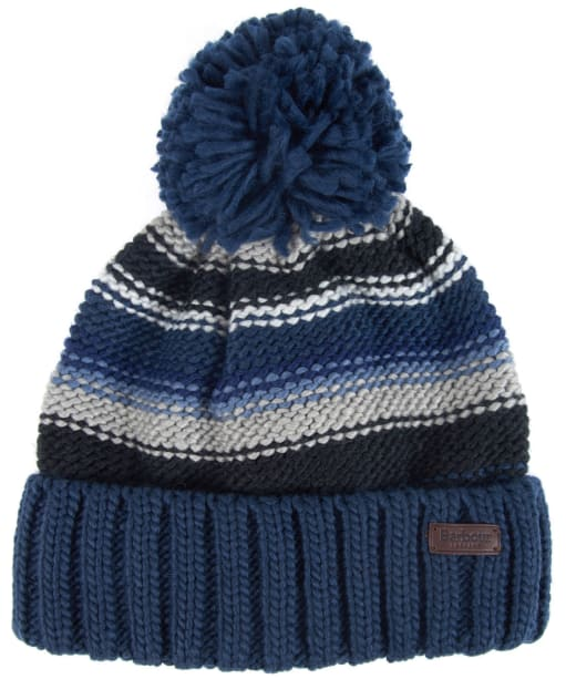 Men's Barbour Harrow Stripe Beanie - Grey / Blue
