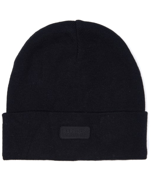 Men's Barbour International Sensor Knit Beanie Hat - Black
