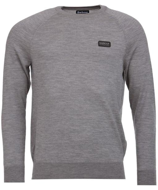 Men's Barbour International Absorb Merino Crew Sweater - Anthracite Marl