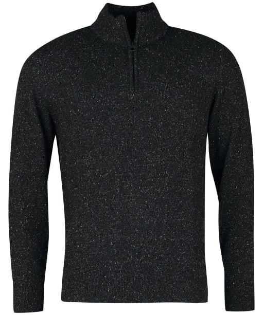 Men's Barbour Tisbury Half Zip Sweater - Black