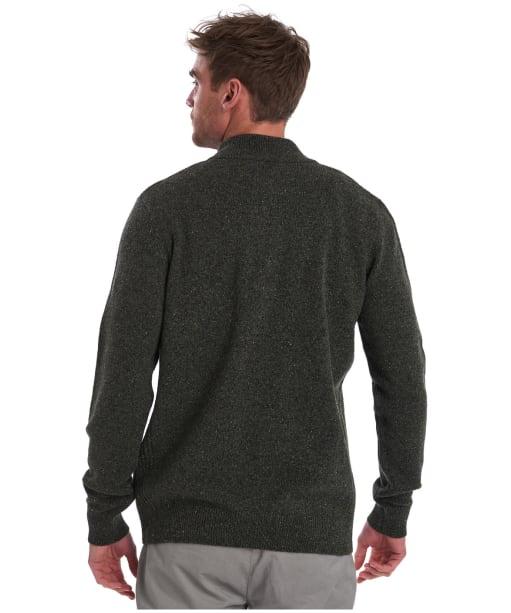 Men's Barbour Tisbury Half Zip Sweater - Dark Seaweed
