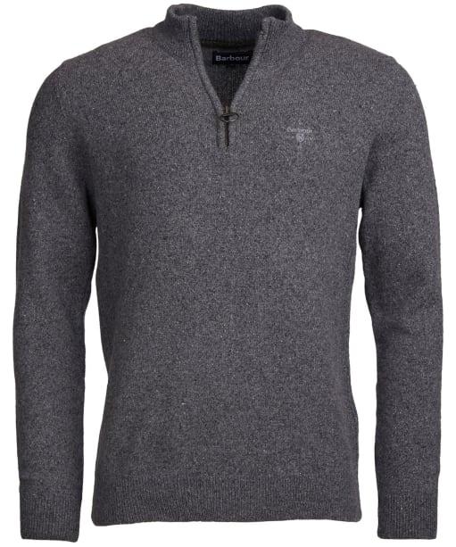 Men's Barbour Tisbury Half Zip Sweater - Grey