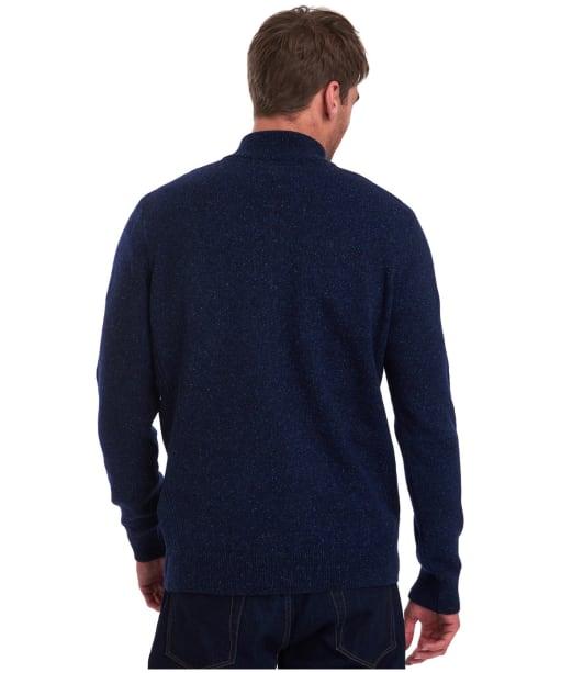 Men's Barbour Tisbury Half Zip Sweater - Navy