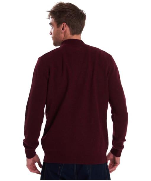 Men's Barbour Tisbury Half Zip Sweater - Ruby