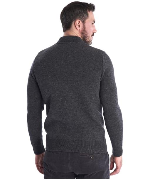 Men's Barbour Witton Button Through Knitted Jacket - Dark Grey