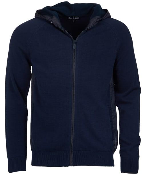 Men's Barbour Rampside Hooded Knit Sweater Jacket - Navy