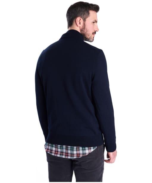 Men's Barbour Gamlan Half Zip Sweater - Navy