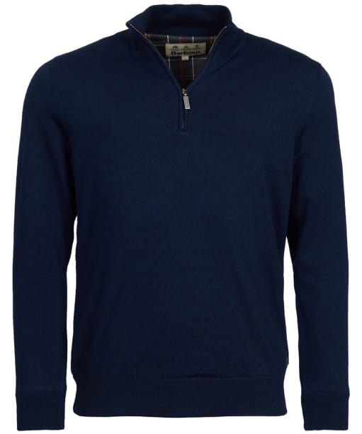Men's Barbour Gamlan Half Zip Sweater - Navy