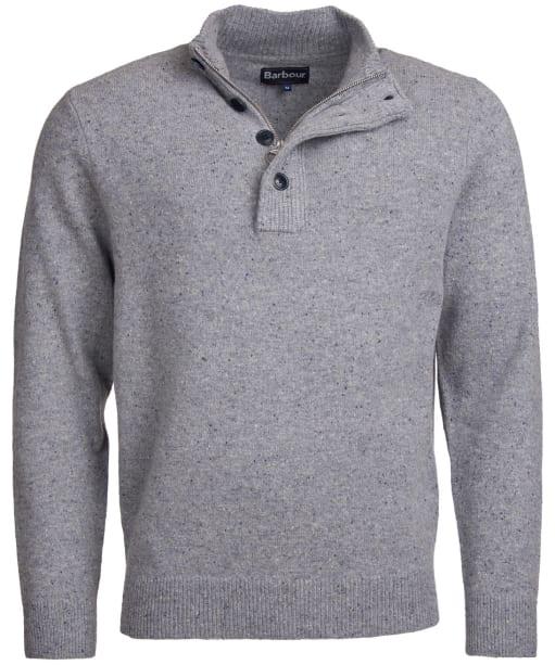 Men's Barbour Colton Half Zip Sweater - Grey Marl