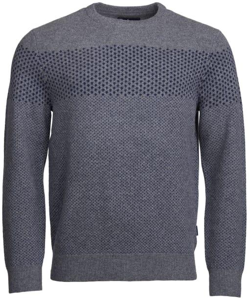 Men's Barbour Ridge Crew Neck Sweater - Grey Marl