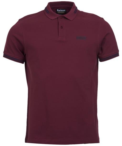 Men's Barbour International Essential Tipped Polo Shirt - Merlot