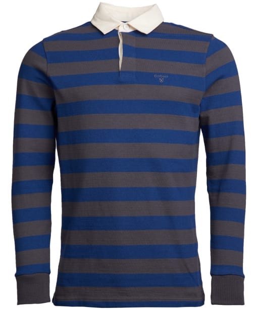 Men's Barbour Dylan Stripe Rugby Shirt - Blue Steel