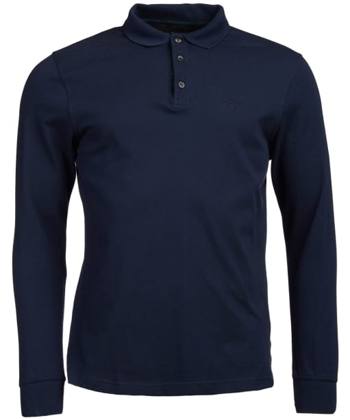 Men's Barbour Lydford Long Sleeved Polo Shirt - Navy