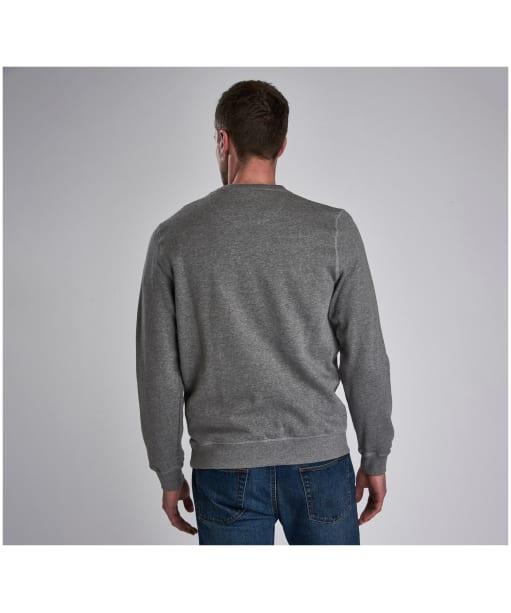 Men's Barbour International Large Logo Sweater - Anthracite Marl