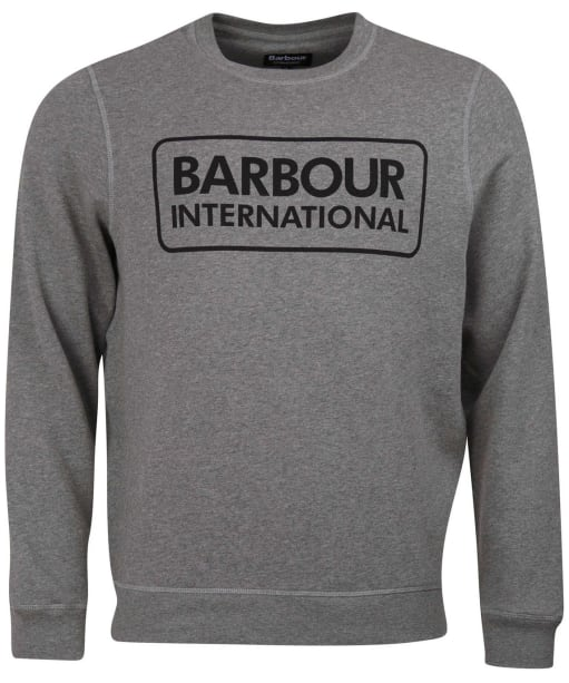 Men's Barbour International Large Logo Sweater - Anthracite Marl