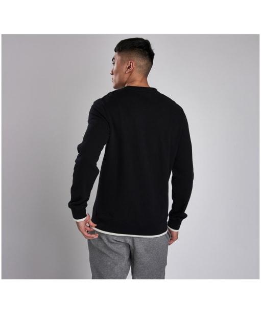 Men's Barbour International Scortch Crew Neck Sweater - Black