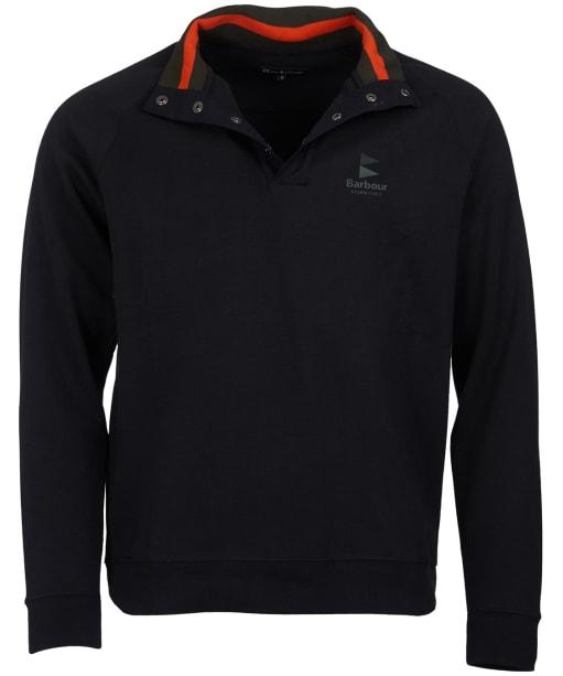 Men's Barbour Cromer Half Snap Sweater - Black