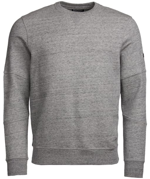 Men's Barbour International V-Twin Crew Neck Sweater - Charcoal Marl