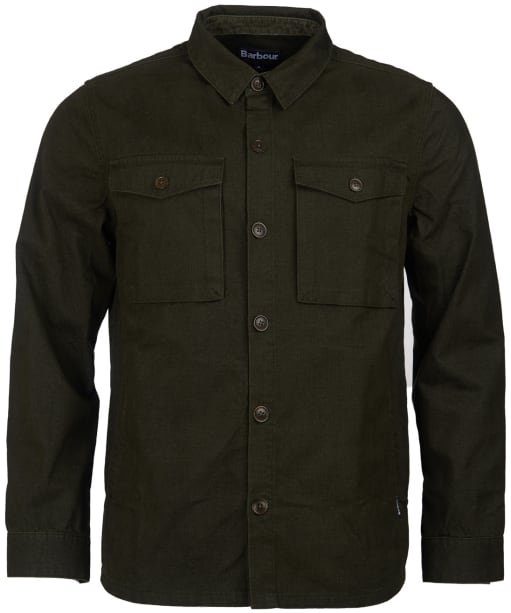 Men's Barbour Thermo Overshirt - Dark Forest