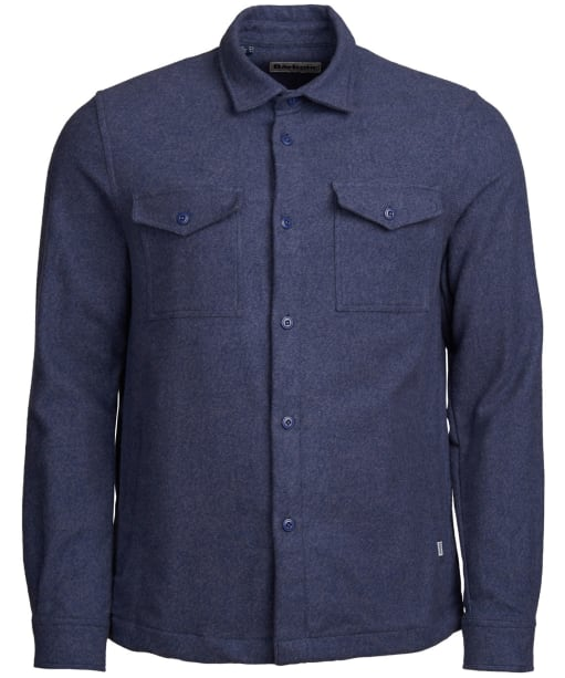 Men's Barbour Brushed Twill Overshirt - Navy