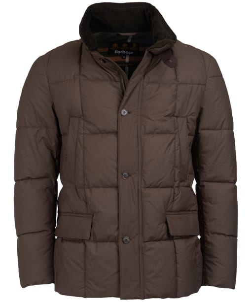 Men's Barbour Yaxley Quilted Jacket - Burnt Sepia