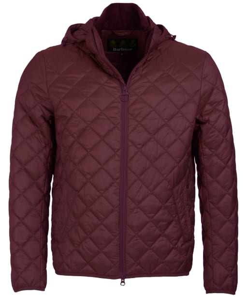 Men's Barbour Tropo Quilted Jacket - Aubergine