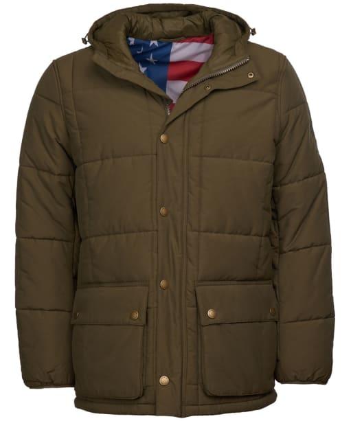 Men's Barbour Steve McQueen Goshen Quilted Jacket - Army Green