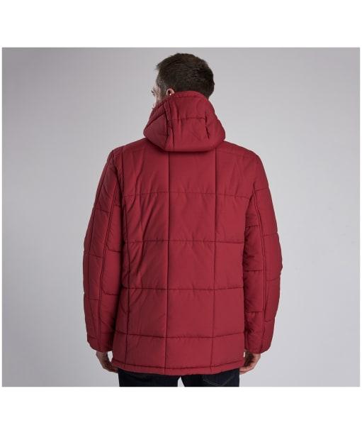 Men's Barbour Steve McQueen Goshen Quilted Jacket - Biking Red