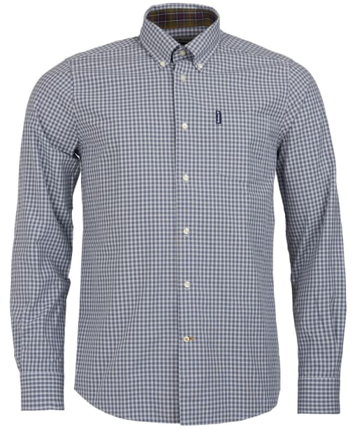 Men's Barbour Gingham 9 Tailored Shirt - Grey Check
