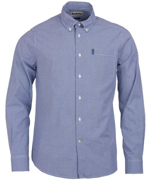 Men's Barbour Gingham 10 Tailored Shirt - Inky Blue
