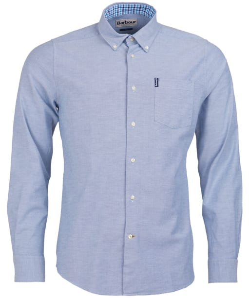 Men's Barbour Oxford 7 Tailored Shirt - Mid Blue