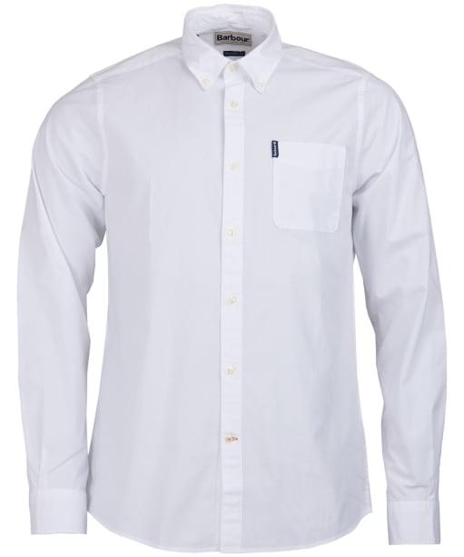 Men's Barbour Stretch Poplin 1 Tailored Shirt - White