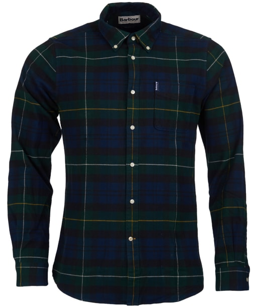 Men's Barbour Highland Check 18 Tailored Shirt - Green Check