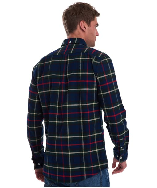 Men's Barbour Highland Check 19 Tailored Shirt - Navy Check
