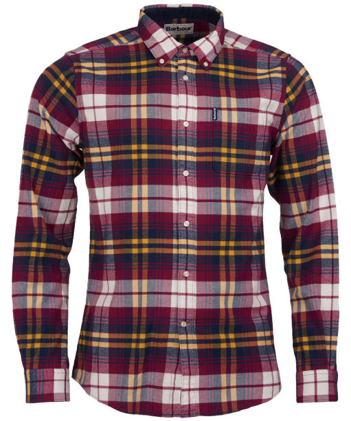 Men's Barbour Highland Check 19 Tailored Shirt - Red Check