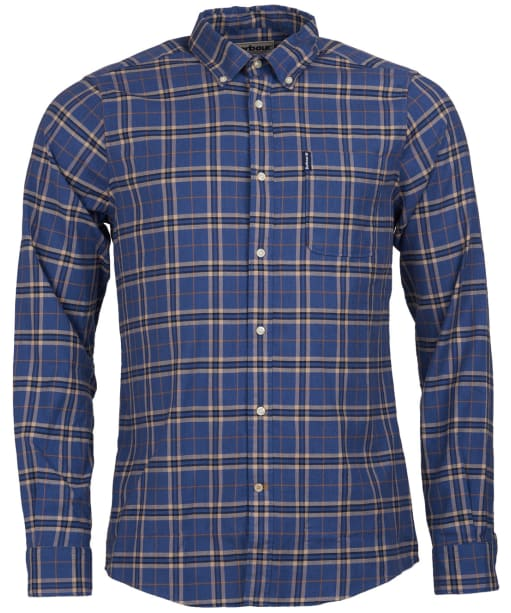 Men's Barbour Highland Check 21 Tailored Shirt - Blue Check
