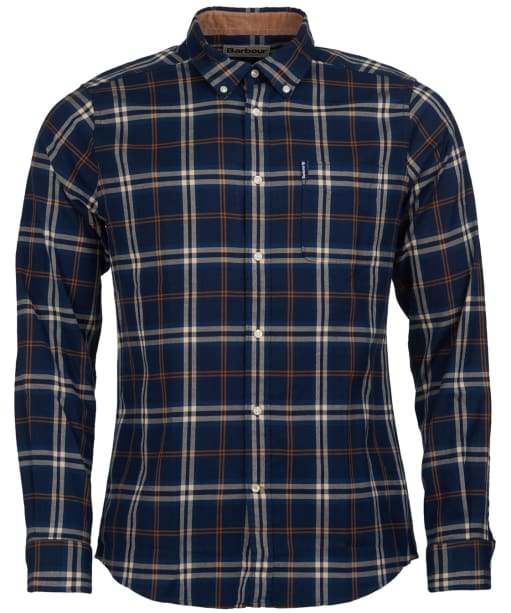 Men's Barbour Highland Check 20 Tailored Shirt - Blue Check