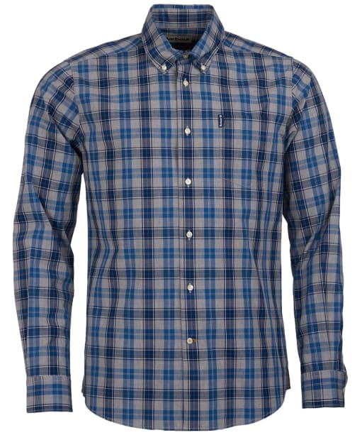 Men's Barbour Country Check 1 Tailored Shirt - Blue Check