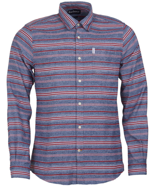 Men's Barbour Lyde Shirt - Crimson Stripe