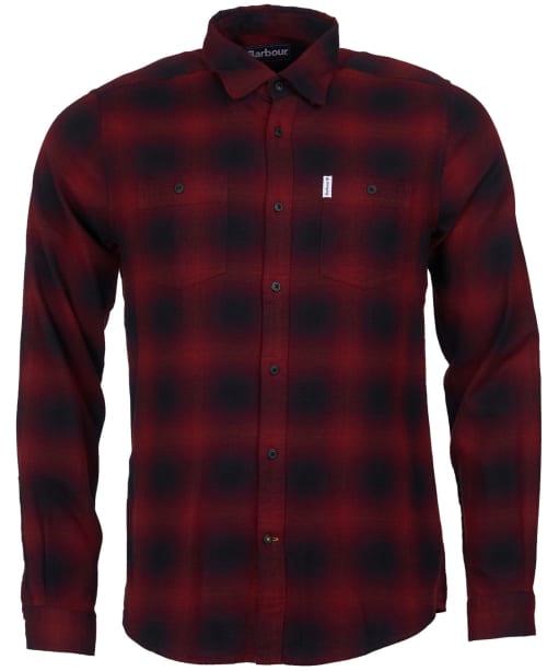 Men's Barbour Hurst Shirt - Chilli Red
