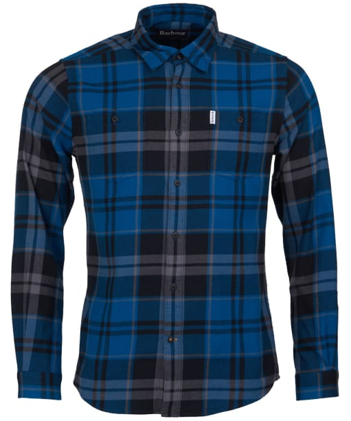 Men's Barbour Bidston Shirt - Blue Steel Check