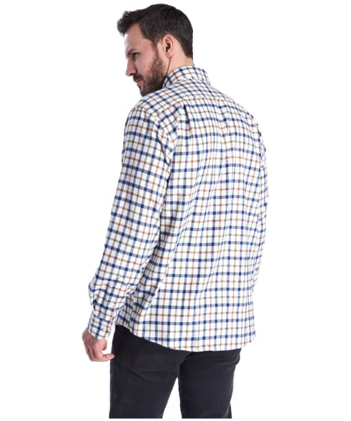 Men's Barbour Thermo-Weave Coll Shirt - Ecru Check