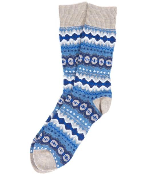 Men's Barbour Caistown Fairisle Socks - Denim