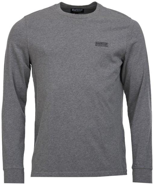 Men's Barbour International Long Sleeve Logo Tee - Anthracite Marl