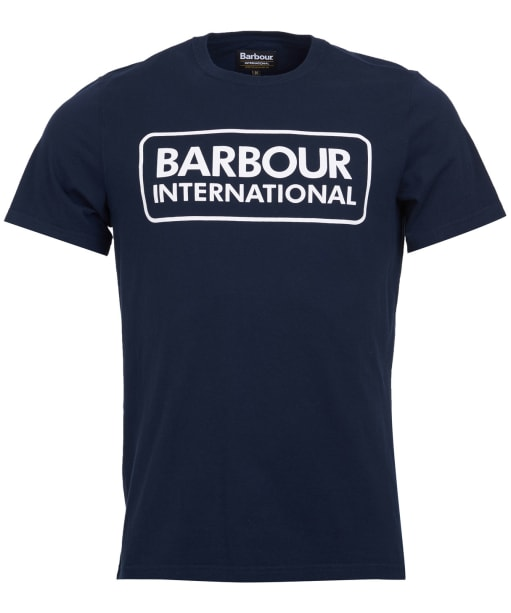 Men's Barbour International Essential Large Logo Tee - INTERNATIO NAVY