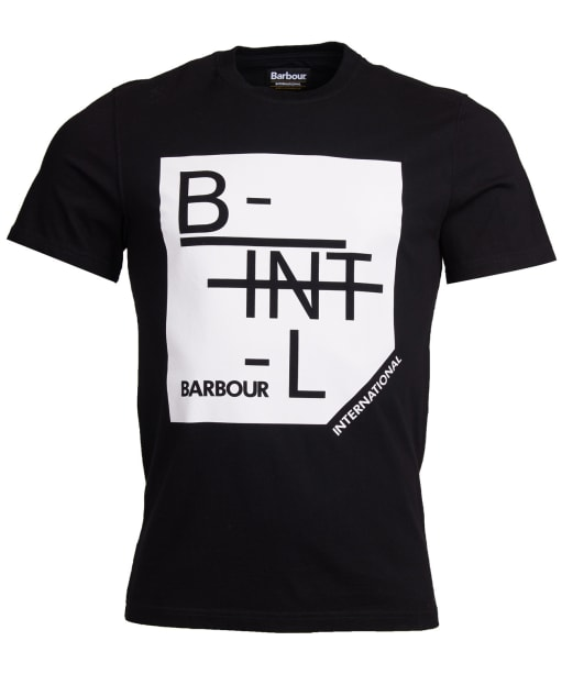 Men's Barbour International Grid Tee - Black