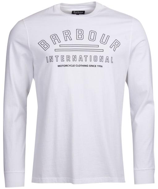 Men's Barbour International Pedal Long Sleeve Tee - White