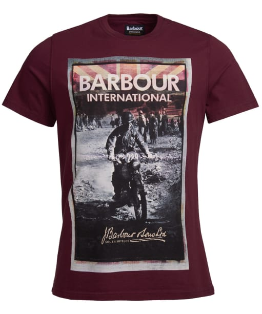 Men's Barbour International Archive Biker Tee - Merlot