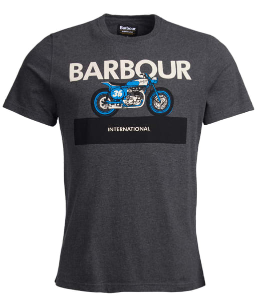 Men's Barbour International Rider Tee - Charcoal Marl
